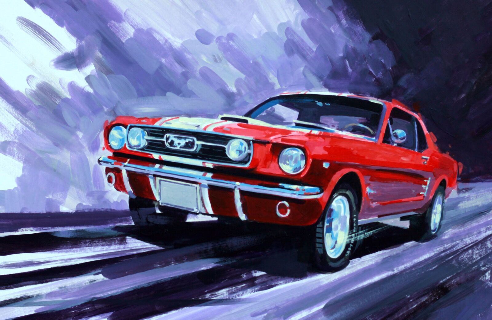 Ford Mustang Coupe 1966 - Acrylic