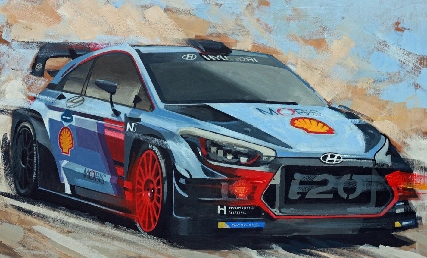 Hyundai i20 WRC Rally Car - Acrylic