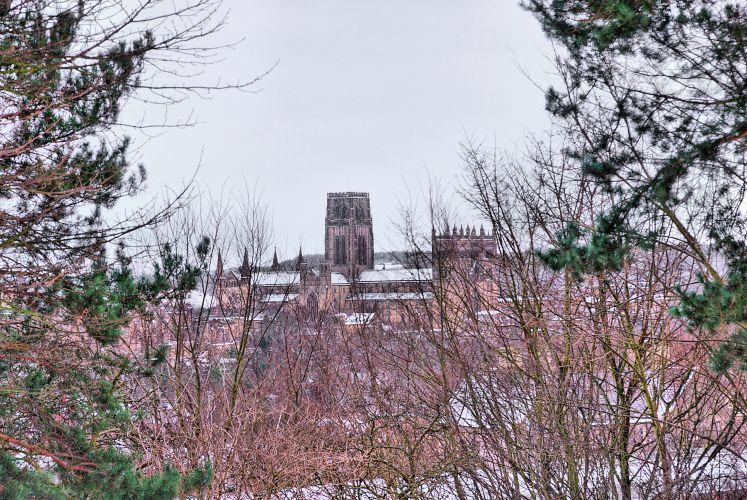 Durham in snow