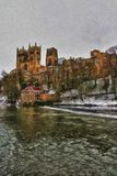 Durham Cathedral in oil