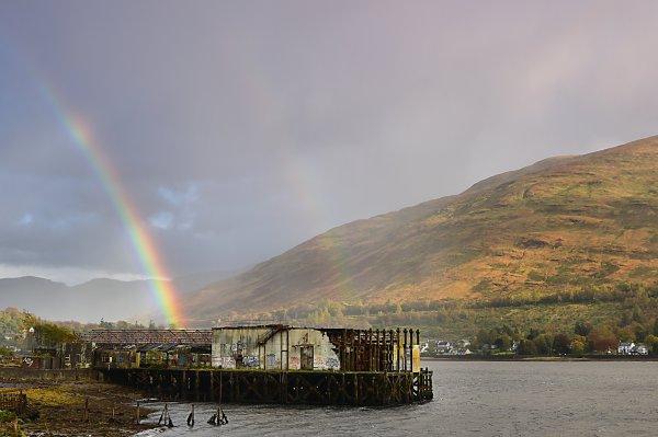 Rainbow on Loch Long