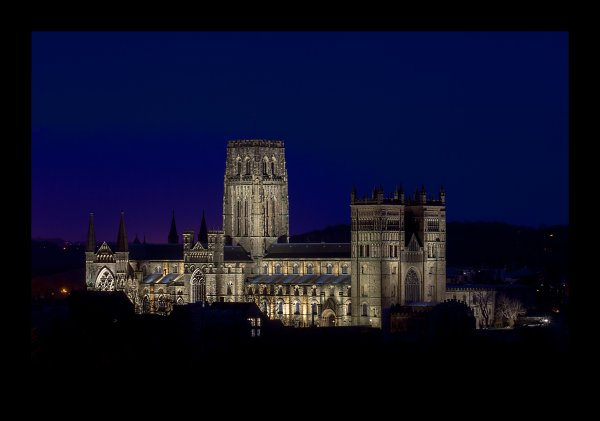 Durham Cathedral at night