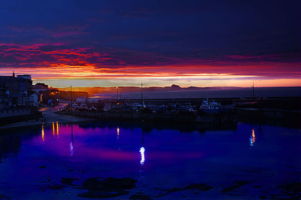 Sunset over Seahouses