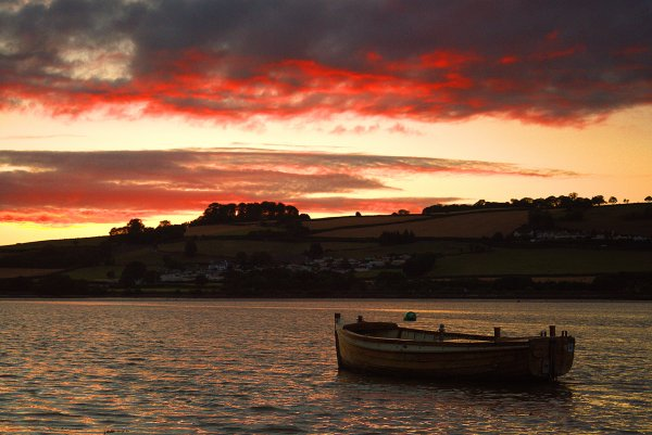 Sunset over the Teign 2