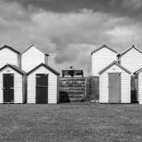 Beach Huts, Broadsands, Torbay (monochrome study 1)