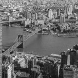 View of River Hudson & Brooklyn Bridge from Freedom Tower