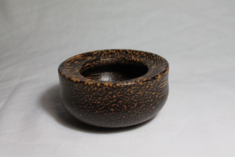 131108 Black Palm Rimmed Bowl SOLD