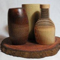 140130 Trio Offcentre Vases SOLD