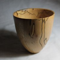 140911 Spalted Beech Vase SOLD