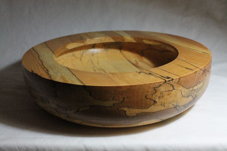 141020 Spalted Beech Rimmed Bowl Sold