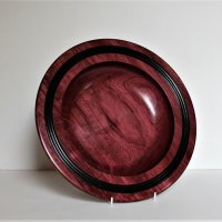 160803 Purpleheart Platter Black Laquer