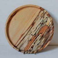 160805 Spalted Beech platter SOLD