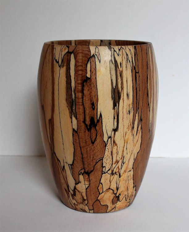 161007 Spalted Beech Vase SOLD