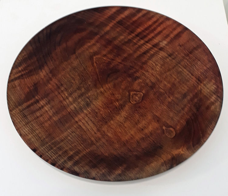 200213 Ripple Ash stained platter