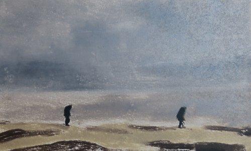 Beachcombers, monotype, 2018