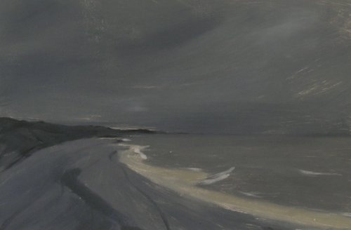 Dunwich Beach - monotype 2016 Shown Solo Show Snape Maltings