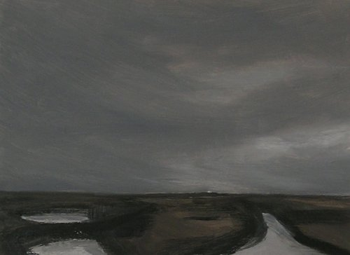 Sizewell from Minsmere - Oil on board 2016