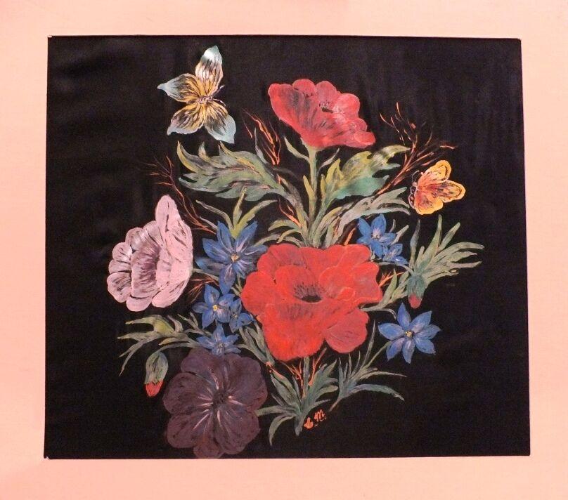 One of Elma's paintings on silk