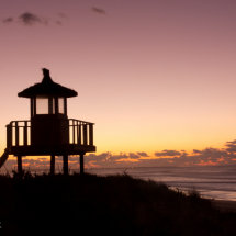 Beach Hut Silhouette