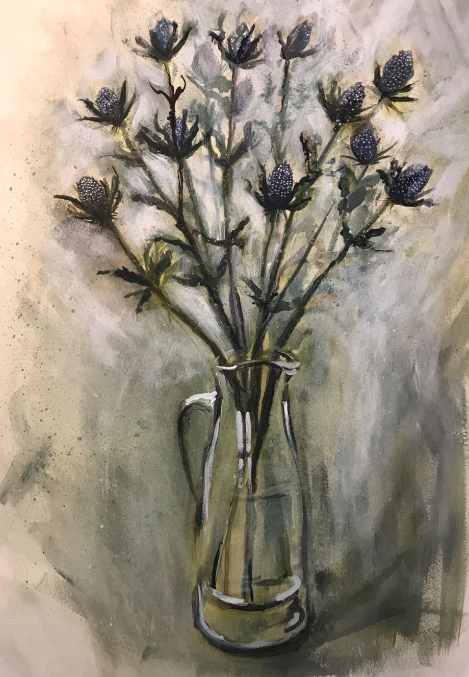 Eryngium in Dartington Jug