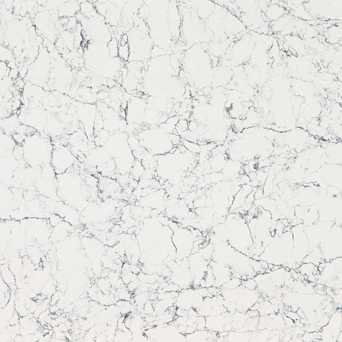 caesarstone white attica quartz 20mm & 30mm - polished finish
