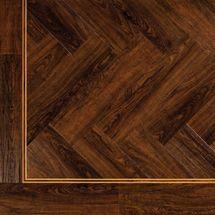 Herringbone American Walnut ambiance luxury vinyl  flooring - 115 x 457mm