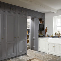 1909 Georgian doors in dove grey & dust grey