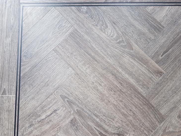 Herringbone Aspen Oak -ambiance luxury vinyl flooring 115 x 457mm
