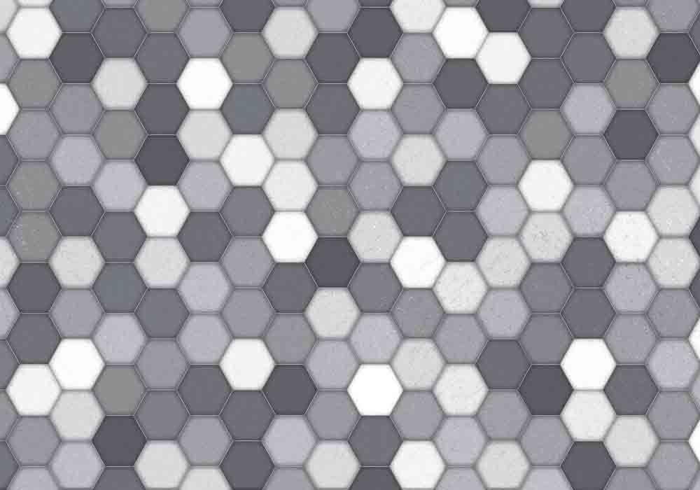 Vista Splashback - Honeycomb - Matt finish
