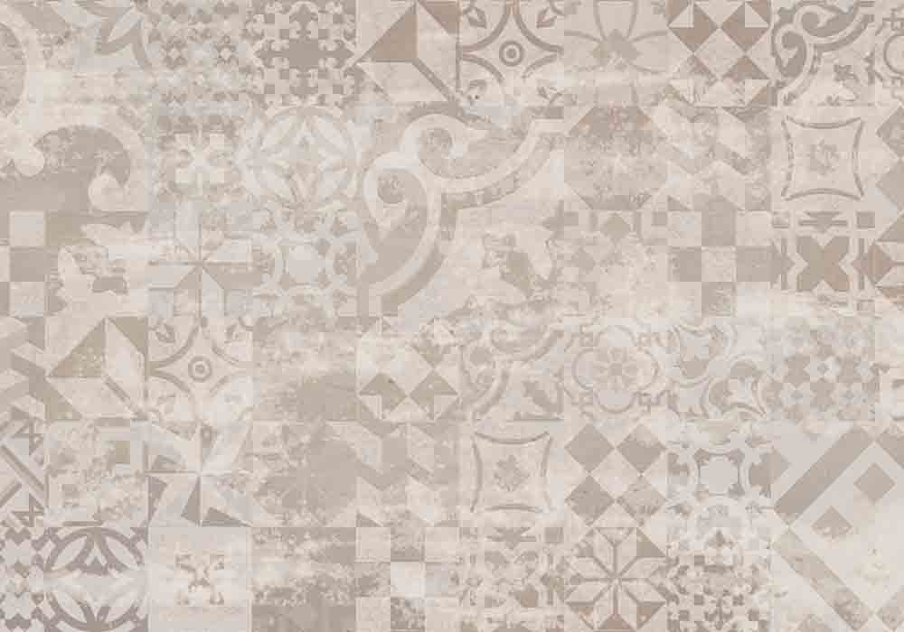 Vista Splashback - Vintage Taupe - Matt finish - Reverse of Casablanca Multi