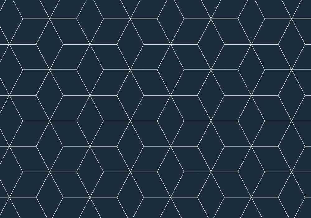 Vista Splashback Blocked Midnight Hex - Matt finish MDF - Reverse of Roulette Curves Taupe