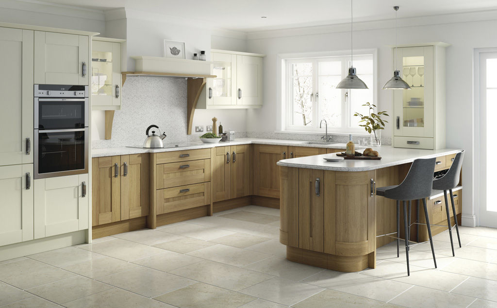 Broadoak doors in alabaster and oak kitchens insynk ltd solihull