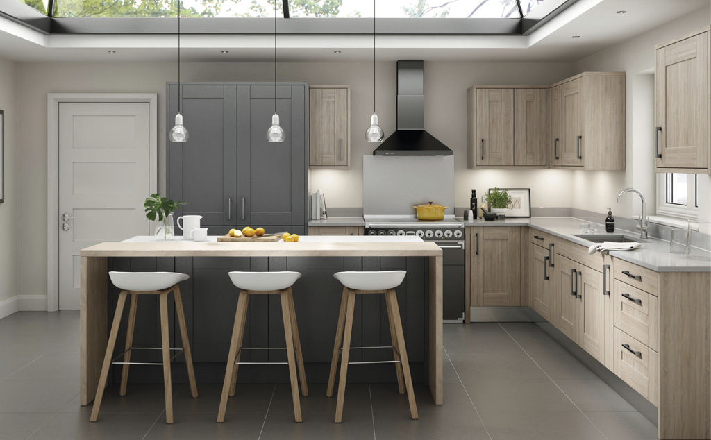 Broadoak Rye and Charcoal doors by kitchens insynk ltd