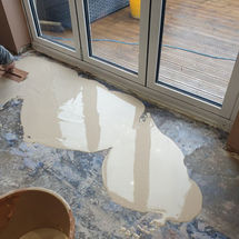 Levelling Floor Preparation at kitchens insynk ltd solihull