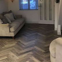 luxury ambiance vinyl flooring complete in herringbone random grey