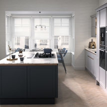ellerton partrdige grey and charcoal kitchen doors kitchens insynk ltd