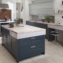 fitzroy hartforth blue Partridge grey and slate doors kitchens insynk ltd