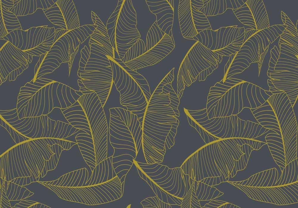 Vista Splashback - Golden Grove - Matt finish MDF - Reverse side of Summer Palm