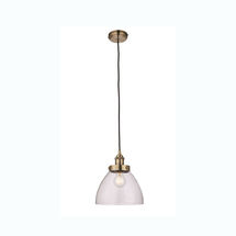 hanson e27 pendant antique brass sy77272 fitting only