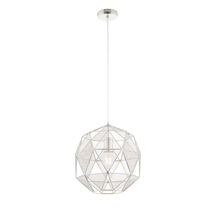 Hex E27 Pendant Light in chrome - sy72817 from sycamore led lighting