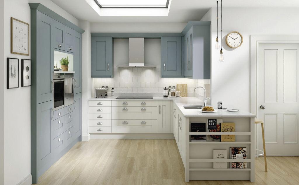 milbourne chalk blue and porcelain kitchen cabinet doors solihull