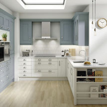milbourne chalk blue and porcelain kitchen cabinet doors solihull