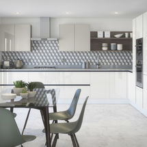 mode white and grey gloss doors by kitchens insynk ltd solihull