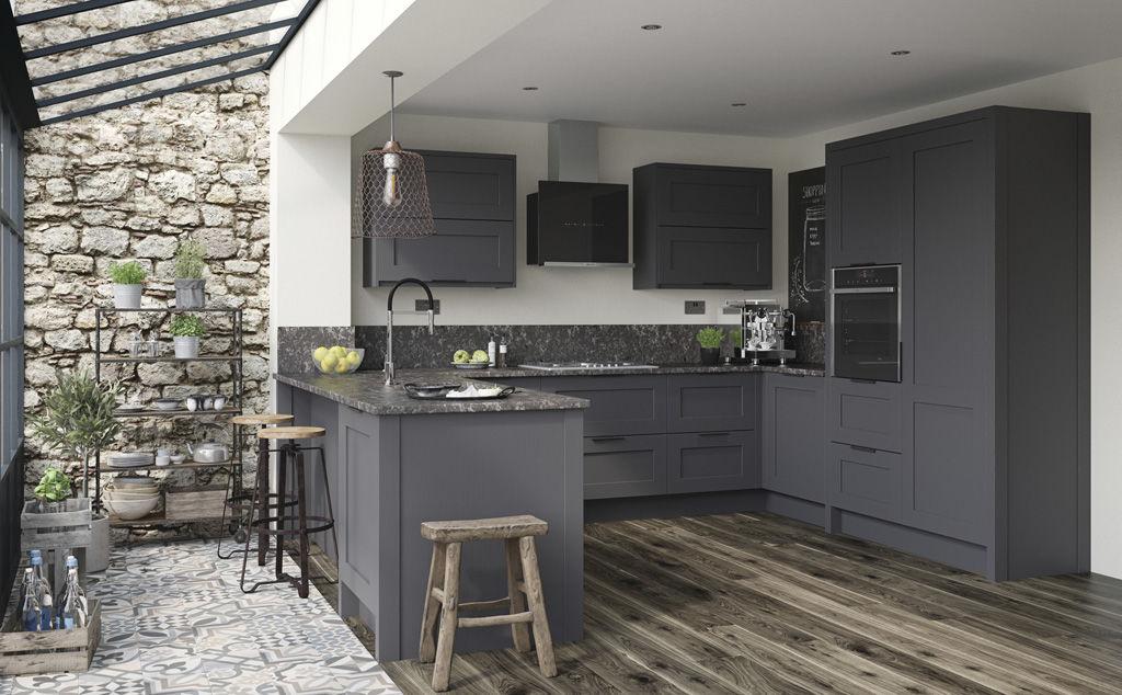 mornington shaker graphite doors by pws