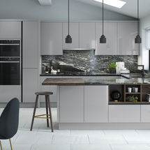 porter silver grey gloss doors kitchens insynk ltd solihull