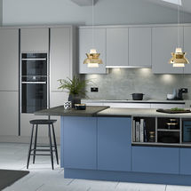 porter silver grey,slate and cornflower blue matt doors