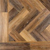 random aged oak herringbone ambiance luxury vinyl flooring at kitchens insynk ltd solihull