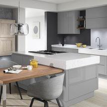remo silver grey gloss and broadoak rye doors kitchens insynk ltd