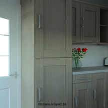 Broadoak units in compact kitchen design by kitchens insynk ltd