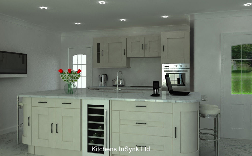 luxury island in luxury kitchen designed by kitchens insynk ltd solihull